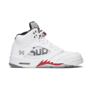 Supreme x Air Jordan 5 Retro White