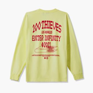 100 Thieves Enter Infinity LS T shirt Lemonade 2