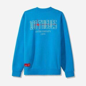 100 Thieves Infinite LS T shirt Sky 1