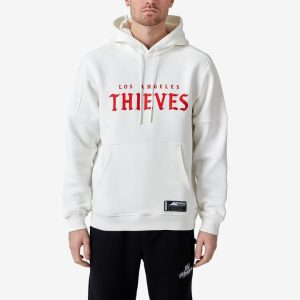 100 Thieves LA Thieves Official Away Hoodie White 1