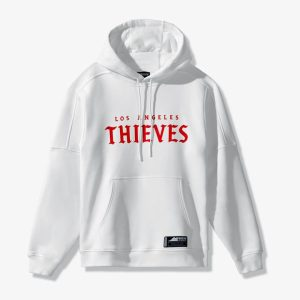 100 Thieves LA Thieves Official Away Hoodie White