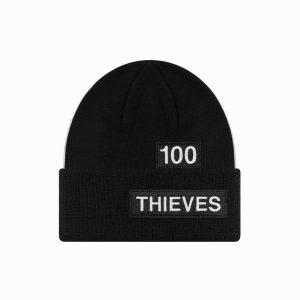 100 Thieves Numbers Beanie Black