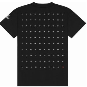 100 Thieves Numbers T shirt Black 1