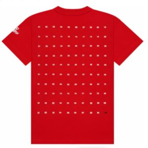 100 Thieves Numbers T shirt Red 1
