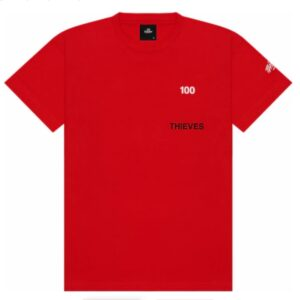 100 Thieves Numbers T shirt Red