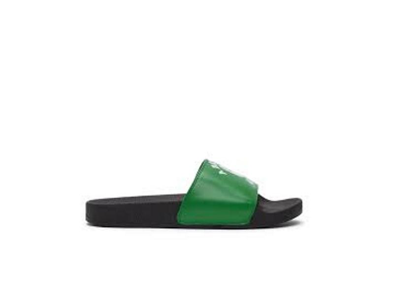 A Bathing Ape College Slide Sandals Green
