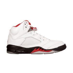 Air Jordan 5 OG White Fire Red 1990
