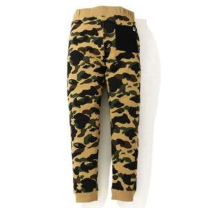 BAPE 1St Camo Shark Slim Sweatpants Yellow Black 2
