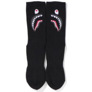 BAPE 2nd Shark Socks Black 2