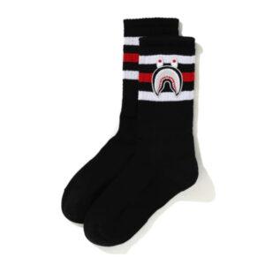 BAPE A Bathing Ape Men Shark Socks Black 1
