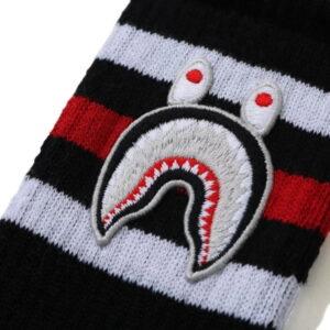 BAPE A Bathing Ape Men Shark Socks Black 2
