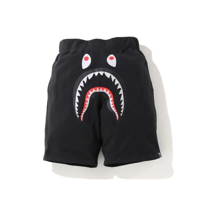 BAPE A Bathing Ape Shark Wide Sweat Shorts Black 1