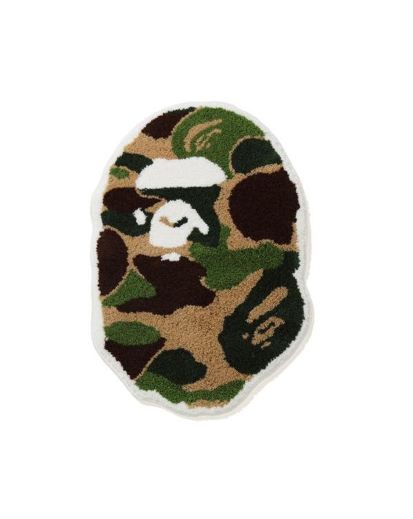 BAPE ABC Camo Ape Head Rug Green 1