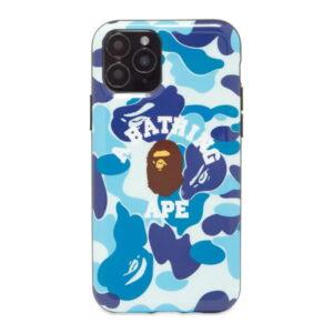 BAPE ABC Camo College iPhone 11 Pro Case Blue 1
