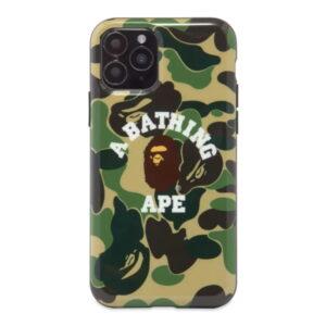 BAPE ABC Camo College iPhone 11 Pro Case Green 1
