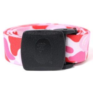 BAPE ABC Camo Long GI Belt Pink 1