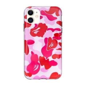 BAPE ABC Camo iPhone 11 Case Pink 1