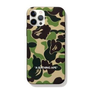 BAPE ABC Camo iPhone 12 PRO MAX Case Green 1