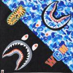 BAPE ABC Shark Bandana Blue 1