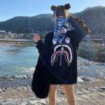 BAPE ABC Shark Bandana Blue 4