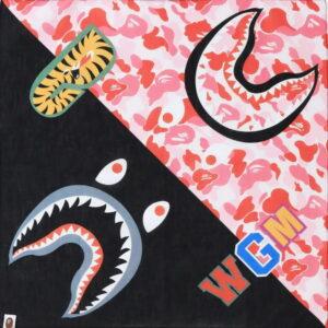 BAPE ABC Shark Bandana Pink 1