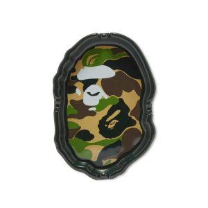 BAPE Abc Camo Ape Head Ashtray Black Green 1