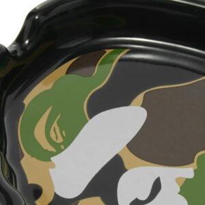 BAPE Abc Camo Ape Head Ashtray Black Green 2