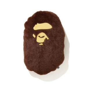 BAPE Ape Head Cushion Brown111