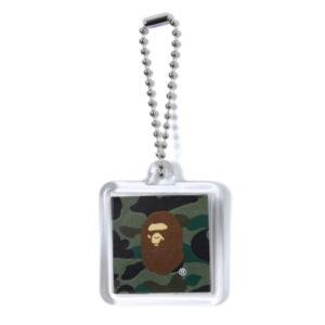 BAPE Ape Head Keychain Green 1