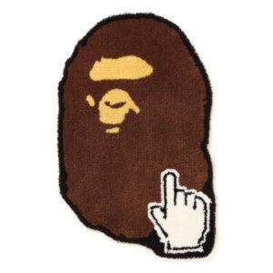 BAPE Ape Head Online Rug Brown 1