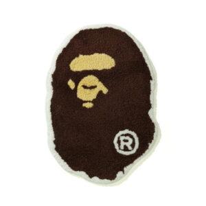 BAPE Ape Head Rug Brown 1