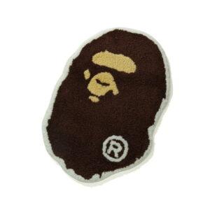 BAPE Ape Head Rug Brown 2