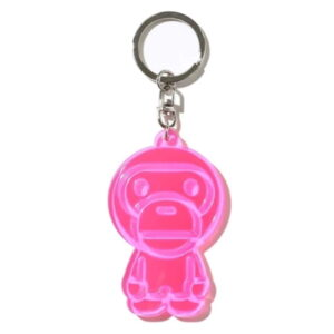 BAPE Baby Milo Reflective Keychain Pink 1