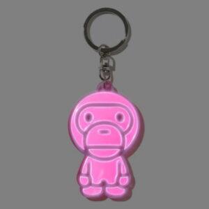 BAPE Baby Milo Reflective Keychain Pink 2