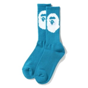 BAPE Big Ape Head Socks Blue 1