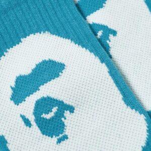 BAPE Big Ape Head Socks Blue 2
