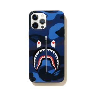BAPE Color Camo Shark iPhone 12 Pro Max Case Navy 1