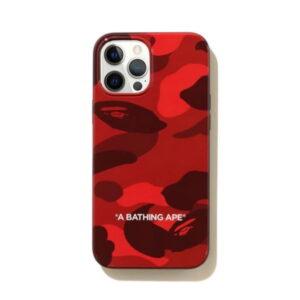BAPE Color Camo iPhone 12 Pro Max Case Red 1