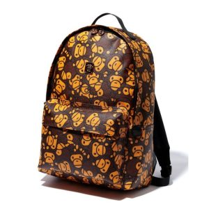 BAPE Daypackm All Baby Milo Pvc Brown 1