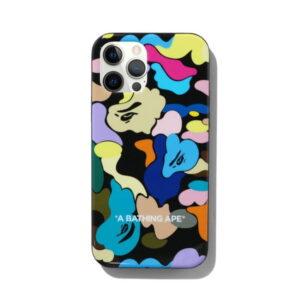 BAPE Multi Camo iPhone 12 12 Pro Case Black11