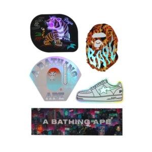 BAPE Neon Tokyo Stickers Multi 1