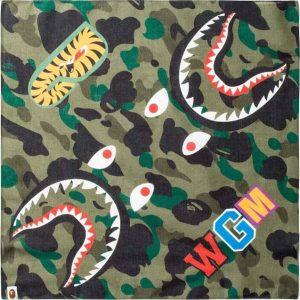BAPE Shark Bandana Green 1