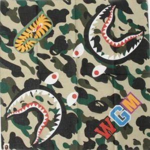 BAPE Shark Bandana Yellow 1