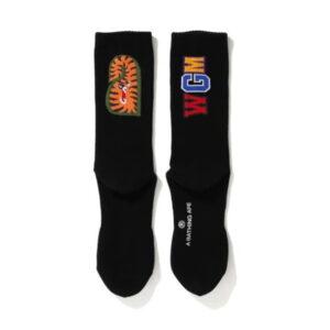 BAPE Shark Socks FW20 Black 2