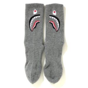 BAPE Shark Socks Grey 2