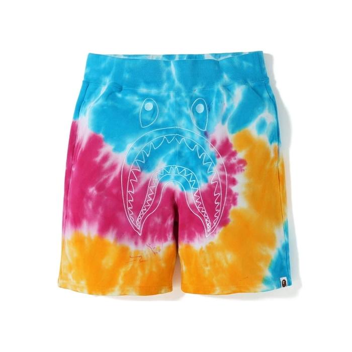 BAPE Tie Dye Shark Sweat SS19 Shorts Multi 1