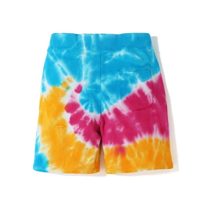 BAPE Tie Dye Shark Sweat SS19 Shorts Multi 2