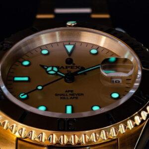 BAPE Type 1 Bapex Watch Gold 2