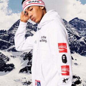 BAPE x Coca Cola Headband White 2