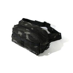 BAPE x Porter Color Camo Waist Bag Black 1